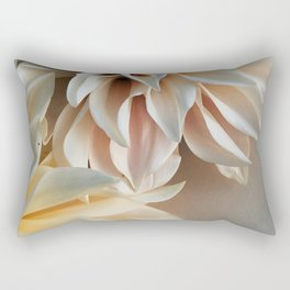 Find Your Tribe #3 - Modern Dahlia Botanical Photograph Rectangular Pillow