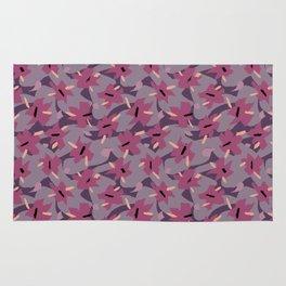 Violet Floral Rug