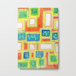 Balancing Rectangles within Pencil Stripes Pattern Metal Print