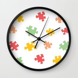 Puzzle Pieces - Summer Colors Wall Clock