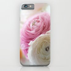 PINK AND WHITE RANUNCULUS iPhone 6s Slim Case