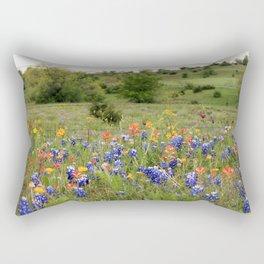 Bluebonnets, Indian Paintbrushes & Wildflowers Rectangular Pillow