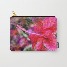 Hibiscus Winds Carry-All Pouch