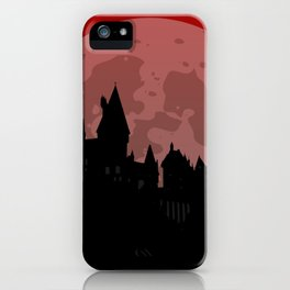 Castle - Red, Large Moon iPhone Case