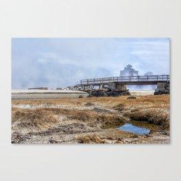 Fog on Good Harbor Beach Canvas Print