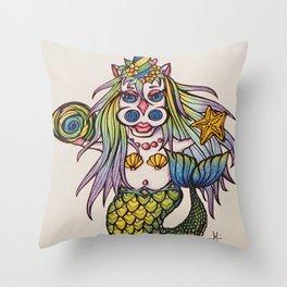 Mermaunicorn Throw Pillow