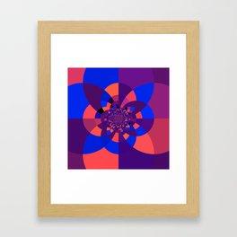 Kaleidoscope Purple Melon Cobalt Blue Framed Art Print