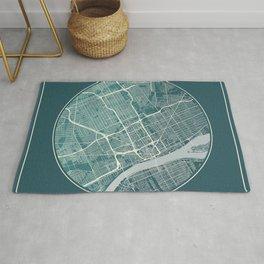 Detroit Map Planet Rug