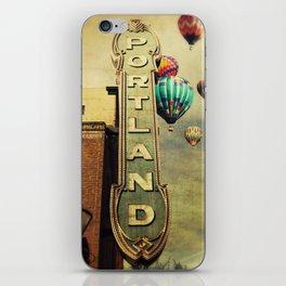 Whimsical Portland Oregon (Hot Air Balloon Ride) iPhone Skin