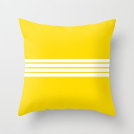 Classic White Stripes on Yellow Throw Pillow