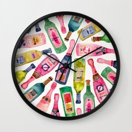 Champagne Collection Wall Clock