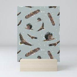 Eagles in the Snow Mini Art Print