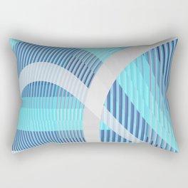 Resonance (blue-aqua) Rectangular Pillow