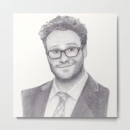 Seth Rogen Pencil drawing Metal Print