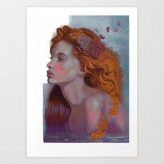 Bathed Beauty Art Print