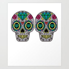 Day Of The Dead Sugar Skulls Bra Funny Calavera Art Print