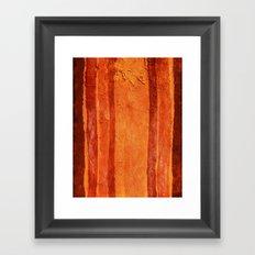 Brown Texture Framed Art Print