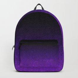 Purple & Black Glitter Gradient Backpack