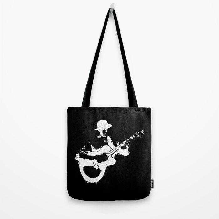Musician playing Tote Bag