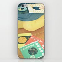 vinyl iPhone & iPod Skins featuring Vinyl by Cassia Beck