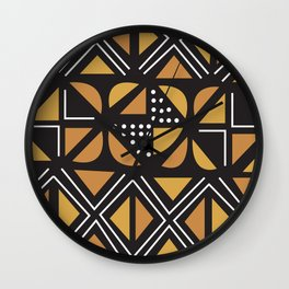 African Tribal Pattern No. 11 Wall Clock