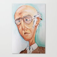 larry david Canvas Prints featuring King Larry David by Kendall Sudduth