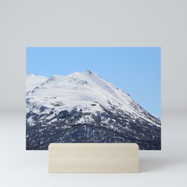 Blue Sky and Snowy Mountain Top Mini Art Print