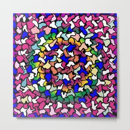 Wobbly Vibrant Tiles Metal Print