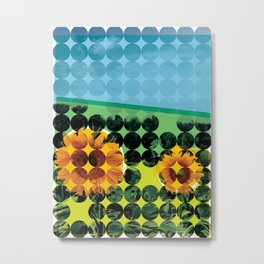 Sunflowers in a Field Metal Print