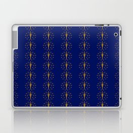 flag of indiana 2-midwest,america,usa,carmel, Hoosier,Indianapolis,Fort Wayne,Evansville,South Bend Laptop & iPad Skin