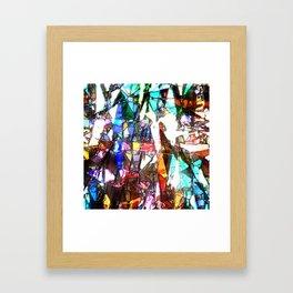 Light Streaming Through Stained Glass Framed Art Print