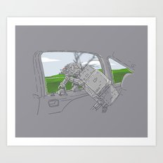 Cruisin' Walker Art Print
