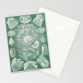 Extinct  sea creatures illustration by Ernst Haeckel Stationery Cards