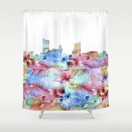 Fort Wayne City Skyline Shower Curtain