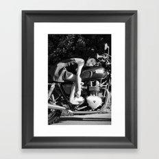 Ye on Triumph Framed Art Print