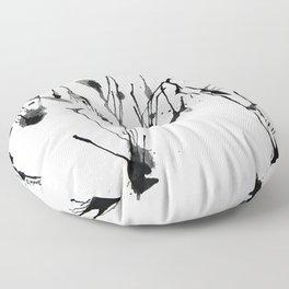 zebra ink splatter Floor Pillow