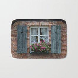Window and Flowers Bath Mat