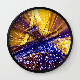 Supernova Eiffel Wall Clock