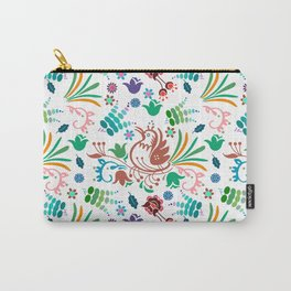 Cute colorful birds and flowers pattern Carry-All Pouch