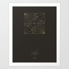 Decogami Crane Art Print