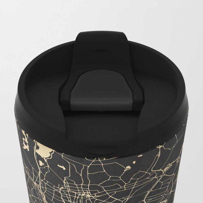 Boston Gold and Black Invert Metal Travel Mug