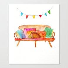 Porcupine hanging out Canvas Print