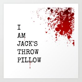 Jack's Throw Pillow Blood Art Print