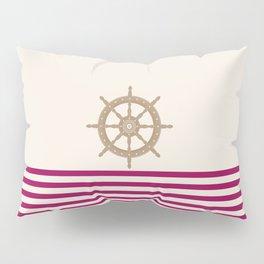 AFE Gold Nautical Helm Wheel Pillow Sham