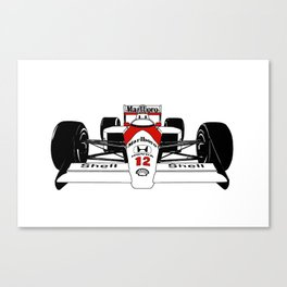 Senna MP4/4 Canvas Print