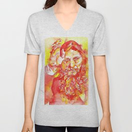 GRIGORI RASPUTIN - watercolor portrait.1 Unisex V-Neck