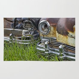 Vintage Frazer Auto Wreck Front Ends Rug