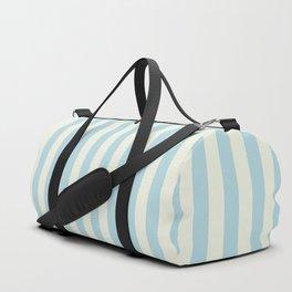 Blue Plume Glass Green Stripe Duffle Bag