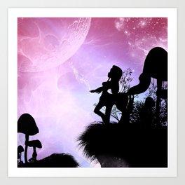 Cute centaurs silhouette Art Print