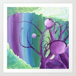 Growing In All Direcrions Art Print